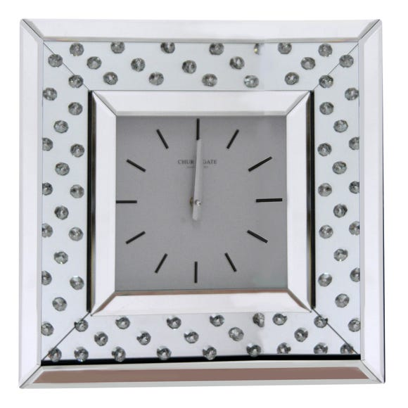 Bling 40cm Wall Clock Silver Silver