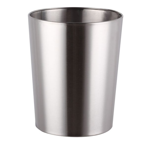 Brushed Silver Metal Bin Silver
