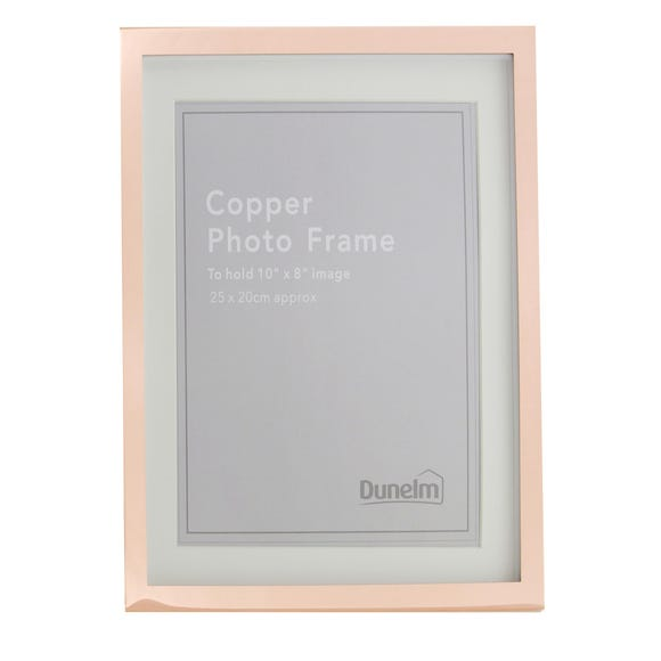 """Copper Photo Frame 10"""" x 8"""" (25cm x 20cm) Copper (Natural)"""