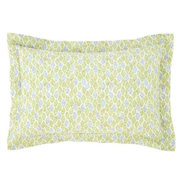 Roar! Dinosaur Green Oxford Pillowcase Green