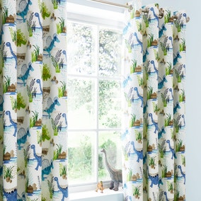 Roar! Dinosaur Blackout Eyelet Kids Curtains