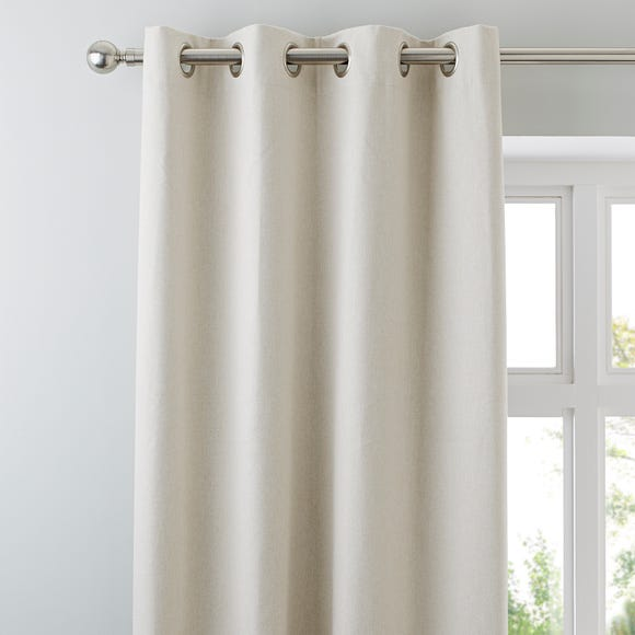 Luna Brushed Natural Blackout Eyelet Curtains  undefined