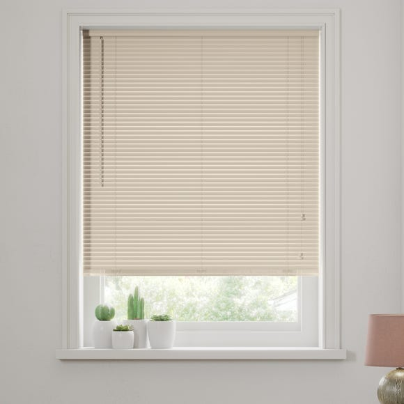 Cream Wooden Venetian Blind 27mm Slats  undefined