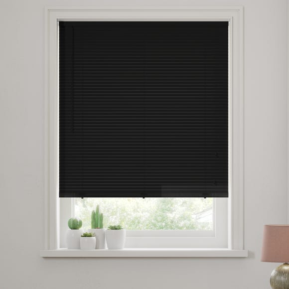 Black Wooden Venetian Blind 27mm Slats  undefined