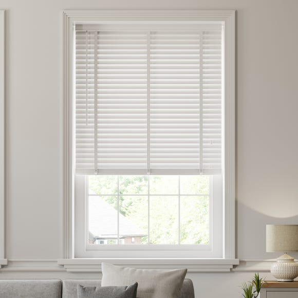 White Wooden Venetian Blind 50mm Slats  undefined