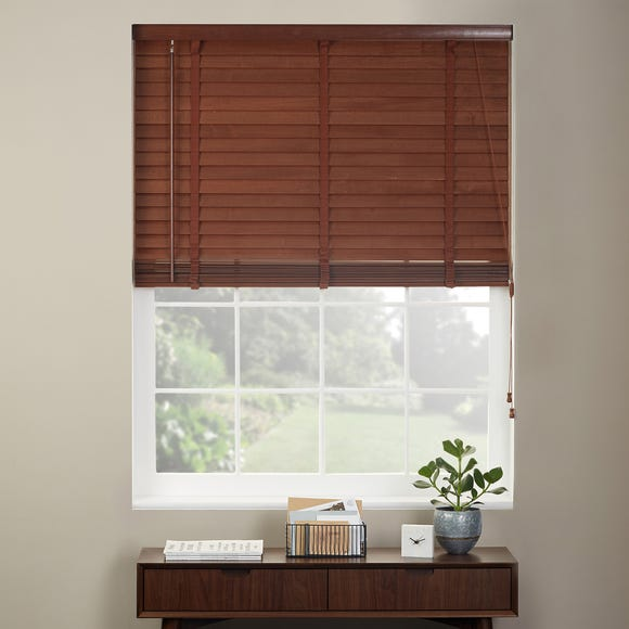 Dark Wood Venetian Blind 50mm Slats  undefined