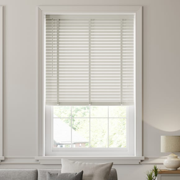 Dove Grey Wooden Venetian Blind 50mm Slats  undefined