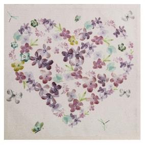 Embellished Heart Canvas