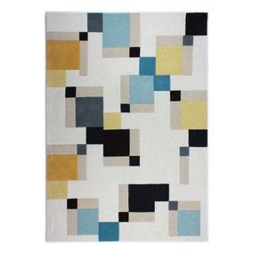 Illusion Abstract Blocks Rug