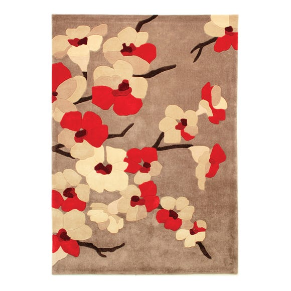 Infinite Blossom Rug Red undefined