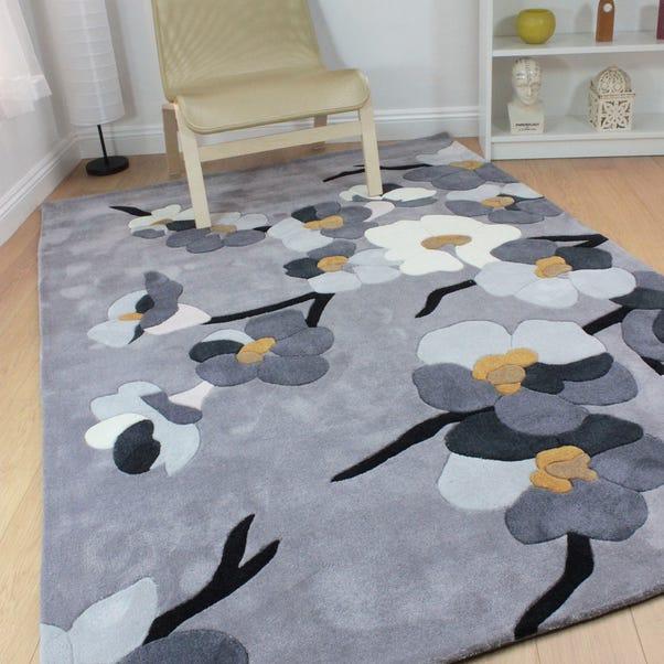 Infinite Blossom Rug Grey undefined