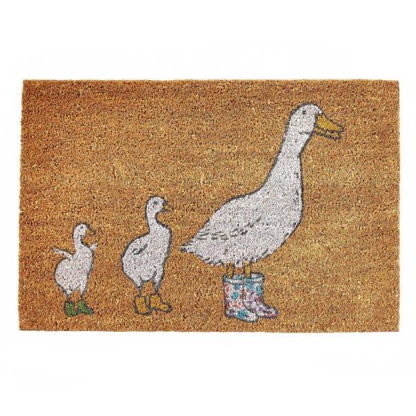 Duck Coir Doormat Brown
