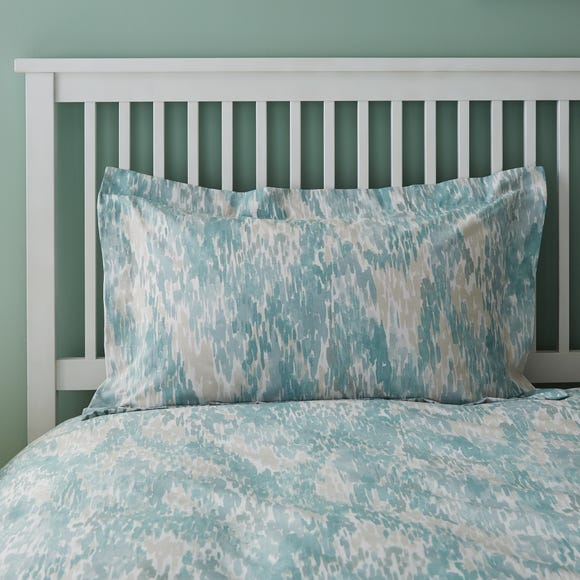 Waves Teal Oxford Pillowcase Teal (Blue)