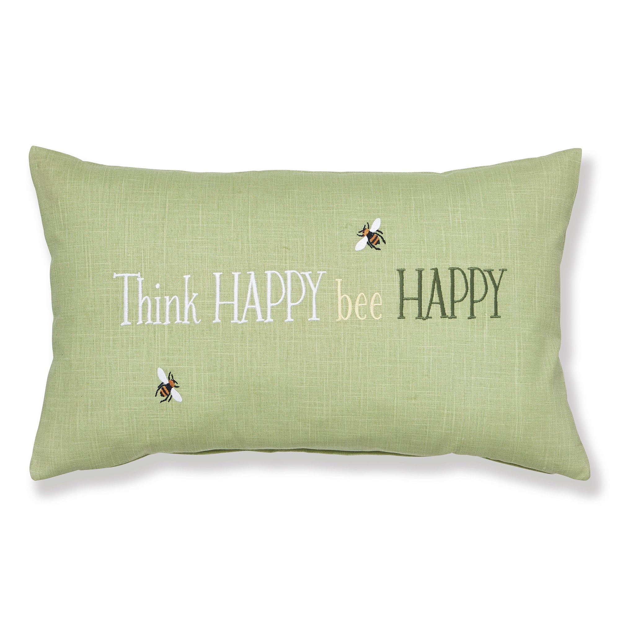 Click to view product details and reviews for Think Happy Bee Happy Green Cushion Green.