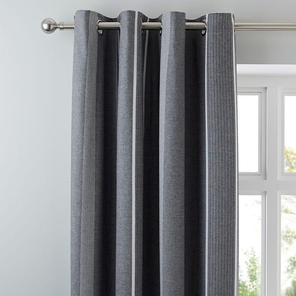 Willington Grey Blackout Eyelet Curtains  undefined