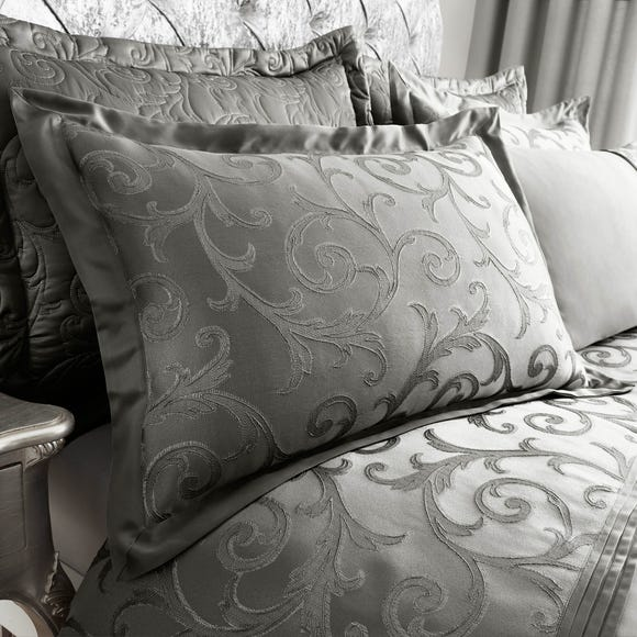 Lucia Silver Oxford Pillowcase Silver