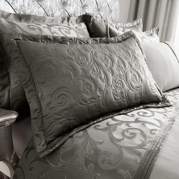 Lucia Silver Pillow Sham Silver