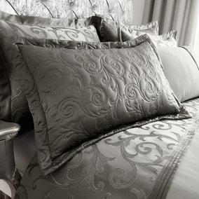 Lucia Silver Pillow Sham