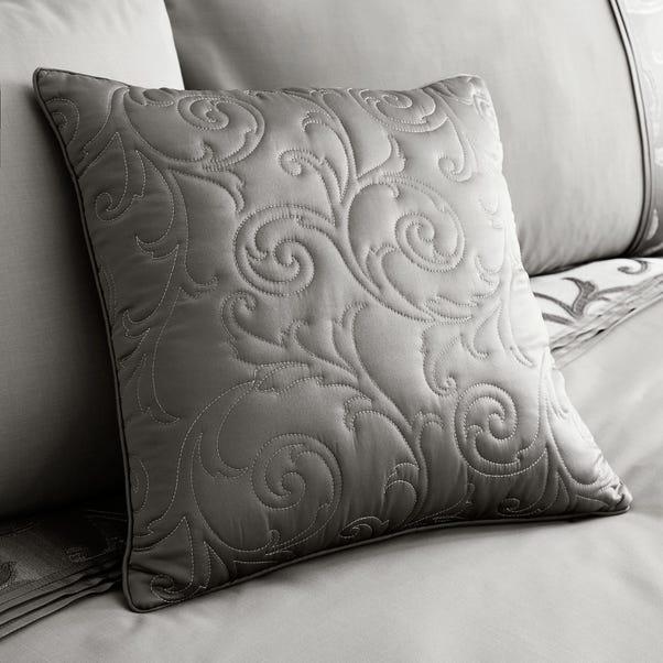 Lucia Square Silver Cushion Silver