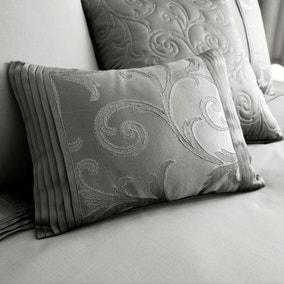 Lucia Silver Boudoir Cushion