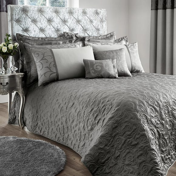 Lucia Silver Bedspread Silver undefined