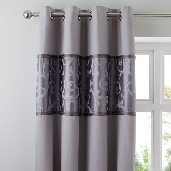 Lucia Silver Thermal Eyelet Curtains Silver undefined