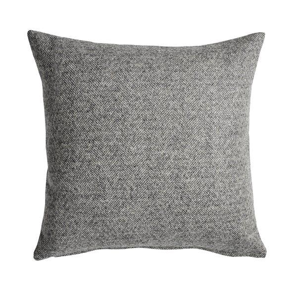 100% Wool Nico Grey Cushion Cover Grey