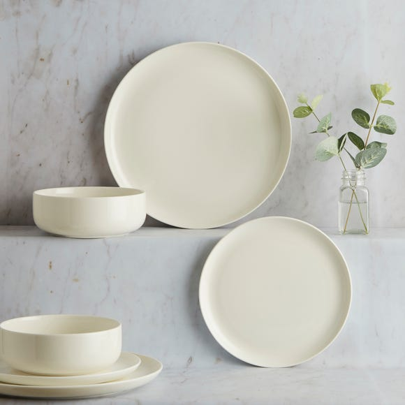 Pure 12 Piece Dinner Set Warm white