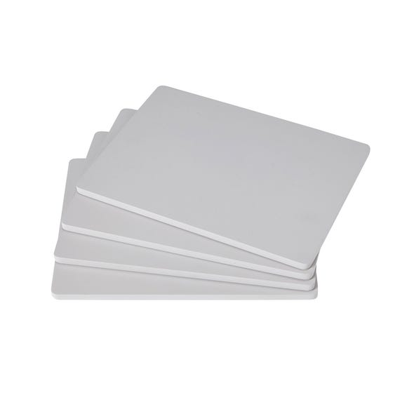 Pack of 4 Grey Painted Wood Placemats Grey