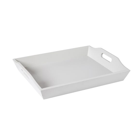 Grey Painted Wooden Tray Grey