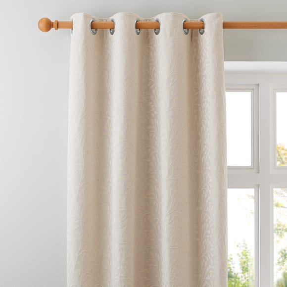 Willow Ivory Eyelet Curtains Pearl (Ivory) undefined