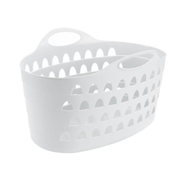 Flexi 60 Litre White Laundry Basket White