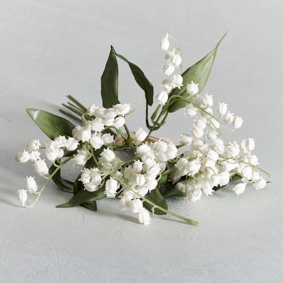 Artificial Lily of the Valley White Bundle 28cm White