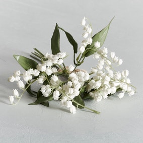 Artificial Lily of the Valley White Bundle 28cm