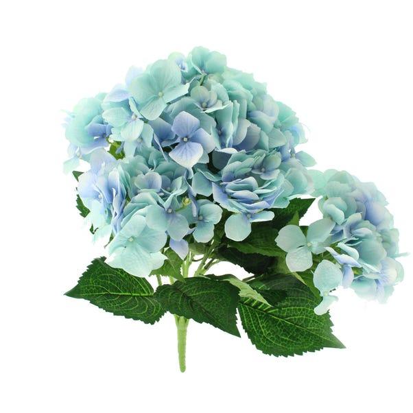 Artificial Hydrangea Bush Blue 55cm Blue