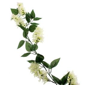 Artificial Lilac White Garland 180cm