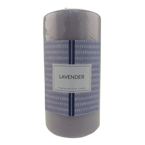 Lavender Pillar Candle Dunelm
