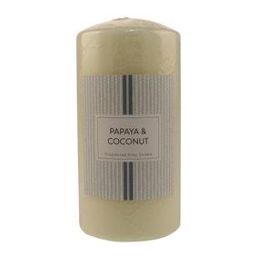Papaya and Coconut Pillar Candle