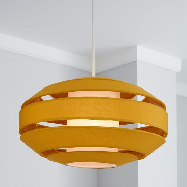Fernely 40cm Oval Ochre Shade Ochre (Yellow)