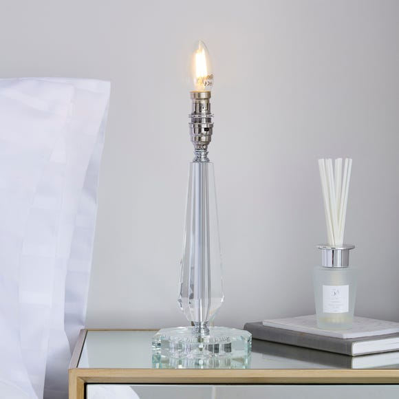 Caprice Clear Crystal Table Lamp Base Clear