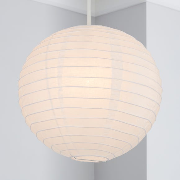 Paper Lantern 30cm White Easy Fit Pendant White