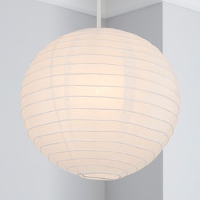 Paper Lantern 30cm White Easy Fit Pendant
