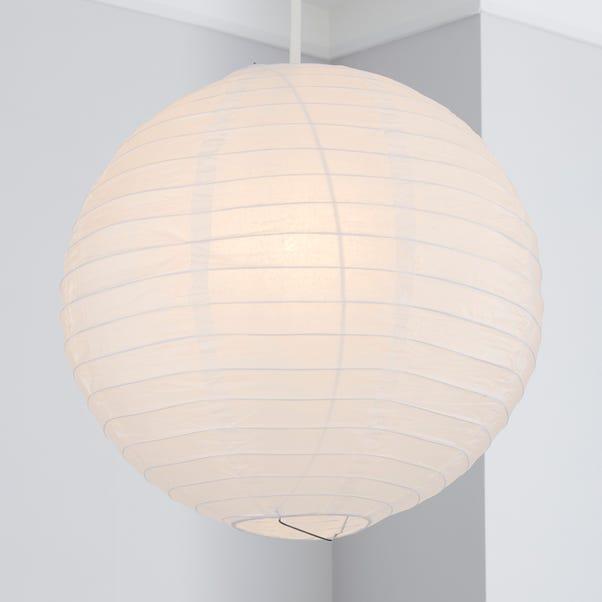 Paper Lantern 40cm White Easy Fit Pendant White