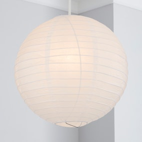 Paper Lantern 40cm White Easy Fit Pendant