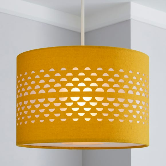 Hanbury Cut Out 30cm Drum Ochre Shade Ochre (Yellow)