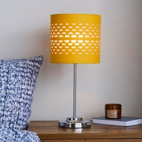 Hanbury Cut Out Ochre Table Lamp