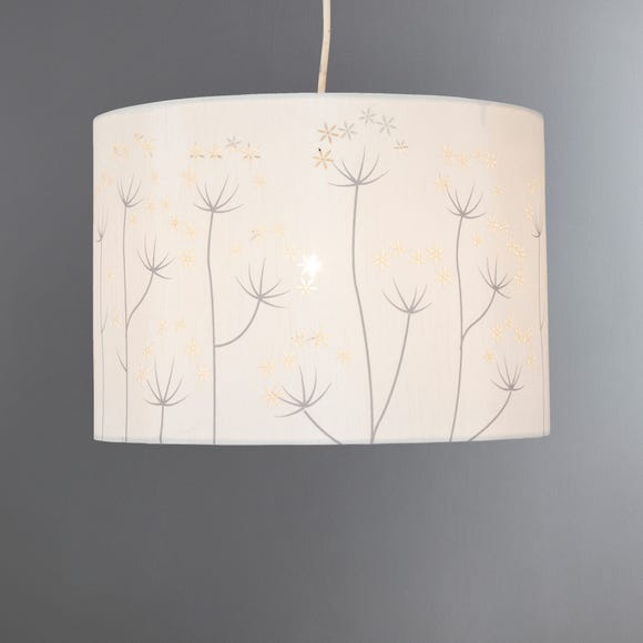 Allium Laser Cut 30cm Drum Ivory Shade Ivory