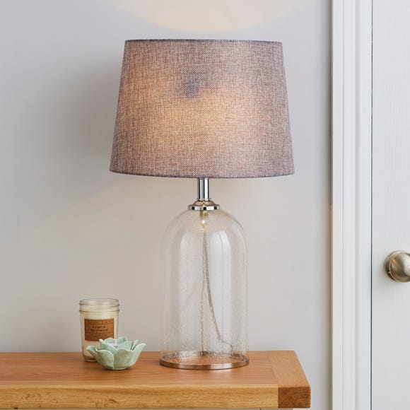 Lenny Glass Clear Table Lamp Clear