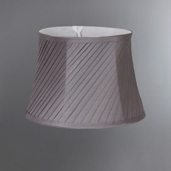 Twisted Pleat Candle Grey Shade Grey undefined