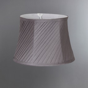 Twisted Pleat Candle Grey Shade
